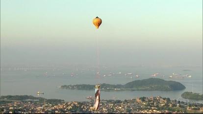 Balão é flagrado na região de São Gonçalo