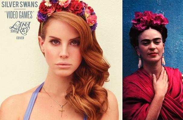 As inspirações: Lana Del Rey e Frida Kahlo (Foto: Reprodução)