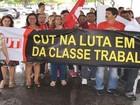 Servidores estaduais protestam contra pagamento fracionado em SE