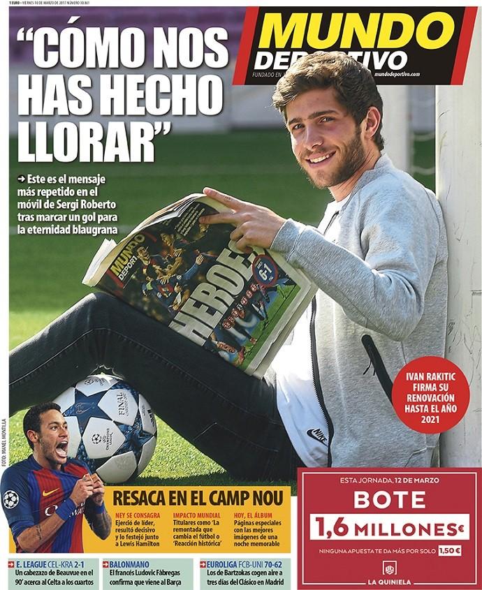 Mundo Deportivo Sergi Roberto