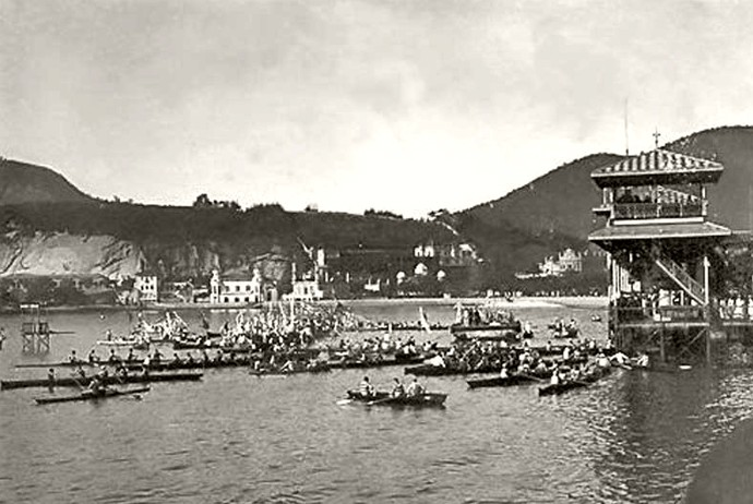 O pavilhão de regatas na enseada de botafogo (Foto: Site oficial do Botafogo)