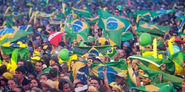 Público de 80 mil pessoas acompanharam os shows do Brazilian Day Portugal, em Lisboa (Foto: Gonçalo Portugal/Globo)