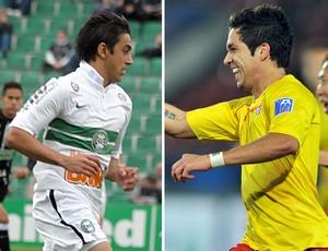 Robinho do Coritiba e Everton Santos (Foto: Editoria de Arte/Globoesporte.com)
