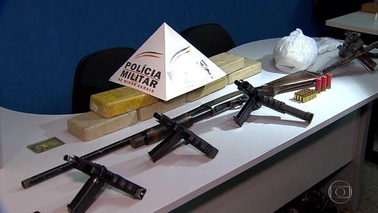 Polícia apreende armas e crack em Ribeirão das Neves, na Grande BH