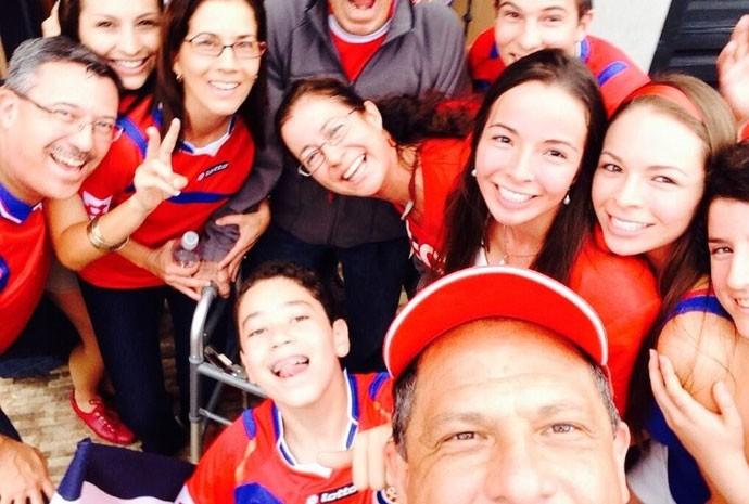Selfie do presidente da Costa Rica, Luis Guillermo Solís