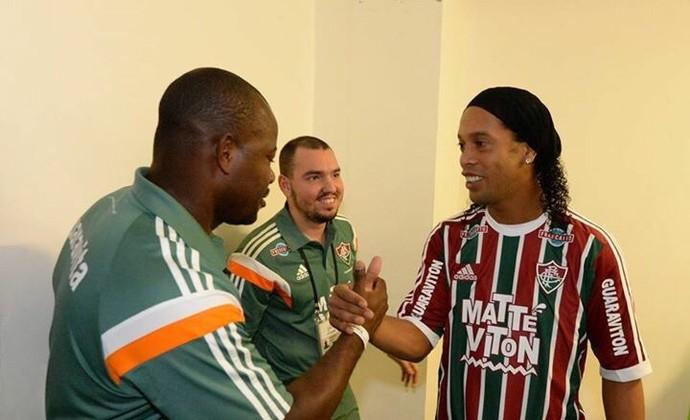 Ronaldinho apresentação 14 (Foto: Alexandre Vidal)