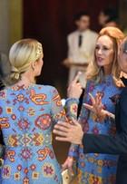Saia justa: Nicky Hilton e mulher de estilista usam o mesmo vestido