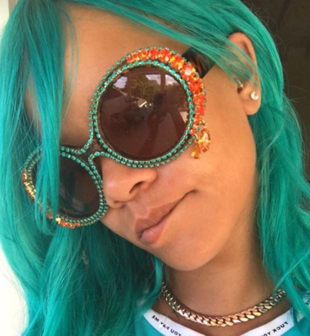 Rihanna no Carnaval de Barbados (Foto: Reprodução/Instagram)