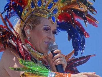 Joelma fez a alegria dos fãs com clássicos do Calypso e também axé. (Foto: Katherine Coutinho/G1)