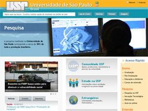 Site da USP (Foto: Reprodução)