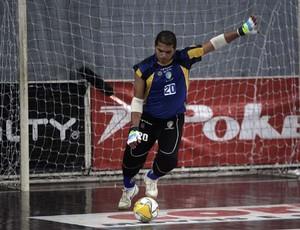 Rogério, goleiro do Petrópolis na Liga Futsal (Foto: Divulgação)