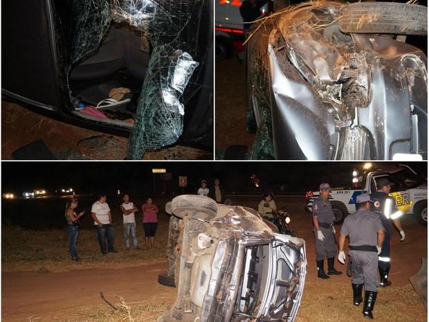Acidente aconteceu em São Carlos na estrada do Broa, que vai para Itirapina (Foto: Marcelo Carboni/Arquivo Pessoal)