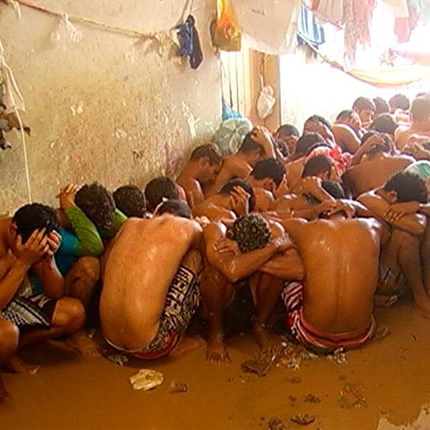 Presos tentaram fugir do Núcleo de Custódia de Natal (Foto: Reprodução/Inter TV Cabugi)