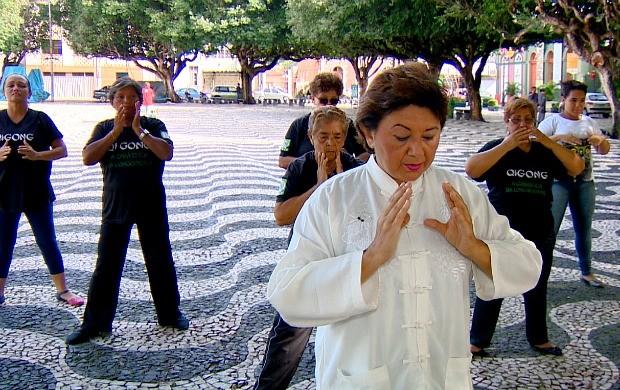 Chi Kung é praticada em Manaus (Foto: Amazônia em Revista)