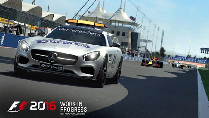 Implementação do safety-car em F1 2016 deverá ser mais realista (Foto: Divulgação/Codemasters) (Foto: Implementação do safety-car em F1 2016 deverá ser mais realista (Foto: Divulgação/Codemasters))