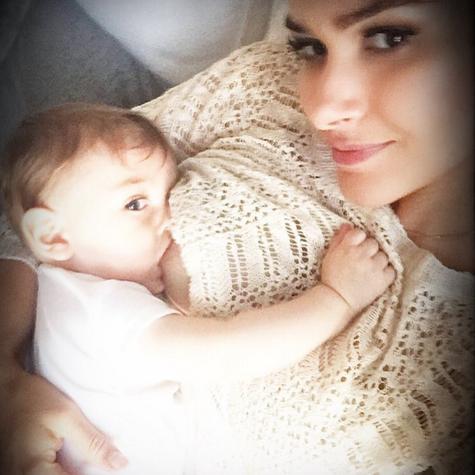 Fernanda Machado com o filho Lucca (Foto: Reprodução)