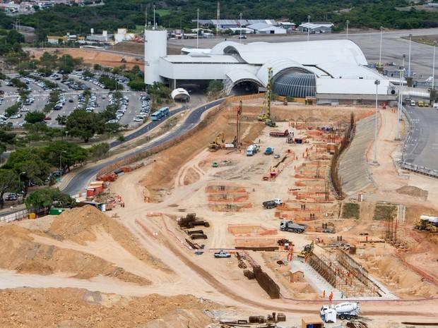 Obras de ampliação do Aeroporto Pinto Martins, em Fortaleza, seguem paradas (Foto: Portal da Copa/Divulgação)
