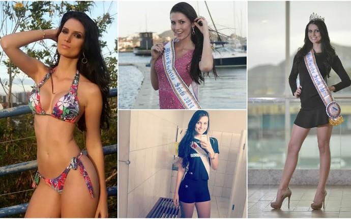 Miss Espírito Santo e modelo, Amanda Recla é torcedora do Vasco da Gama (Foto: Divulgação/Arquivo Pessoal)