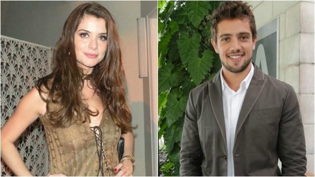 Alinne Moraes e Rafael Carodoso protagonizam a novela Além do Tempo (Foto: Montagem sobre fotos/TV Globo)