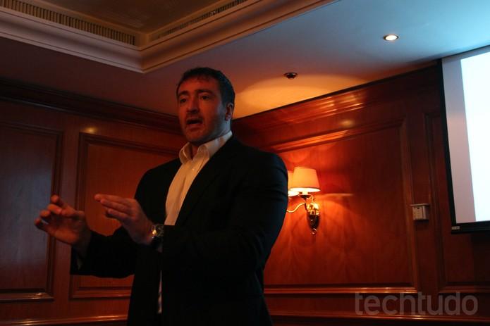 Marco de Mello, executivo da PSafe, fala sobre segurança em tempos de copa  (Foto: Laura Rezende /TechTudo)