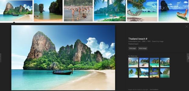 Foto da Tailândia que Kim Kardashian usou aparece em site de buscas (Foto: Reprodução/Google Images)