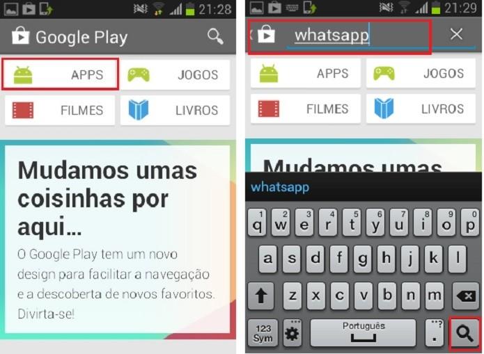 Clique em apps ou procure pelo aplicativo que deseja (Reprodução/Taysa Coelho)