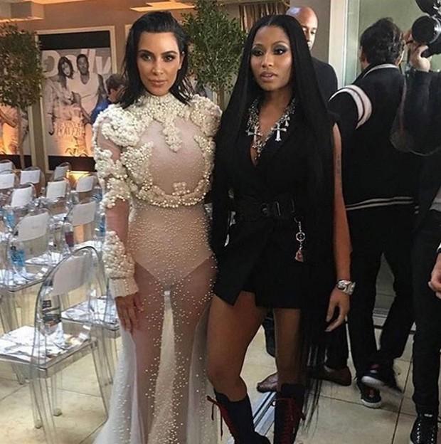 Kim Kardashian e Nicki Minaj (Foto: Reprodução/Instagram)
