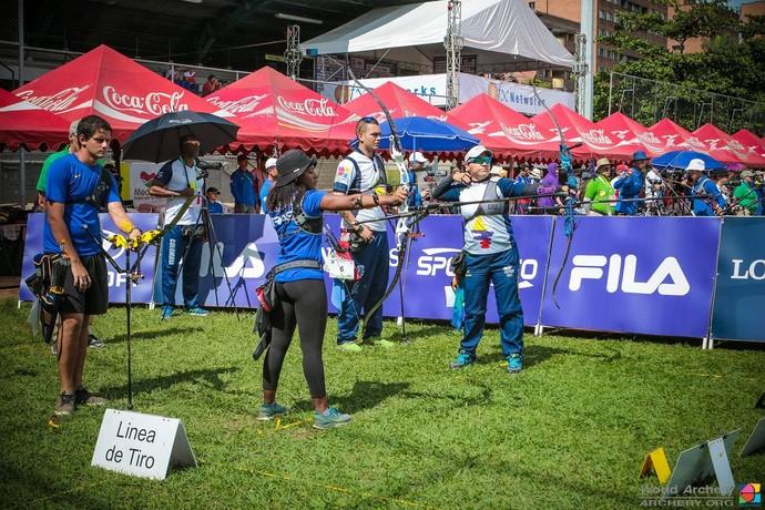 Marcus D'Almeida e Anne Marcelle do Santos, tiro com arco, Copa do Mundo (Foto: Divulgação/World Archery)