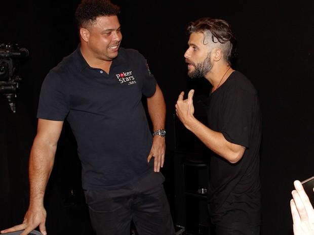 Ronaldo Fenômeno e Bruno Gagliasso em evento em São Paulo (Foto: Claudio Augusto/ Brazil News)