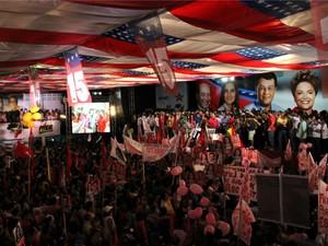 Convenção que anunciou Eduardo Braga como candidato a governador (Foto: Marcos Dantas/G1 AM)