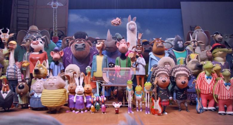 Bicharada reunida para a audição em 'Sing - Quem Canta Seus Males Espanta' (Foto: Divulgação)