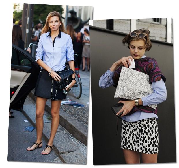 Camisa: para um visual mais andrógino, mas nem por isso menos feminino a peça de alfaiataria é uma opção (Foto: Stockholm Streetstyle/Reprodução)