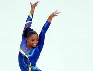 Daiane dos Santos na ginástica em Londres (Foto: Reuters)