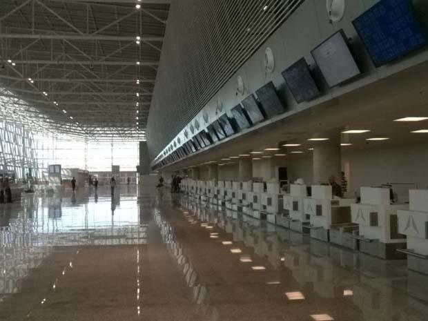 Novo aeroporto entra em operação dia 31 de maio (Foto: Heloísa Guimarães/ Inter TV Cabugi)