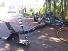 Passageiro de helicóptero que caiu noroeste do Paraná morre em hospital