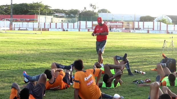 CRB treino (Foto: Globo Esporte/AL)