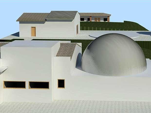 Projeção do Polo Astronômico de Amparo, que deve ficar pronto em 2014 (Foto: Divulgação/Sphaera Planetaria)