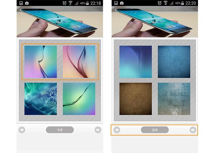 Selecione na galeria do app o wallpaper que preferir (Foto: Reprodução/Barbara Mannara)