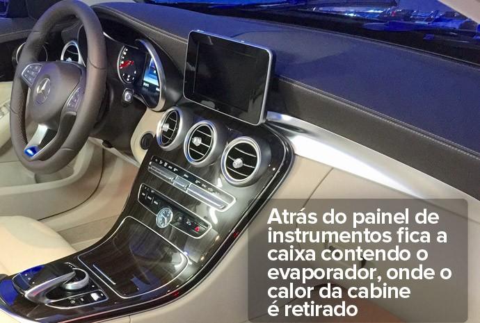 Evaporador do sistema de ar-condicionado do carro