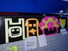 Papéis de post-it viram arte 'em pixels' na Campus Party Recife
