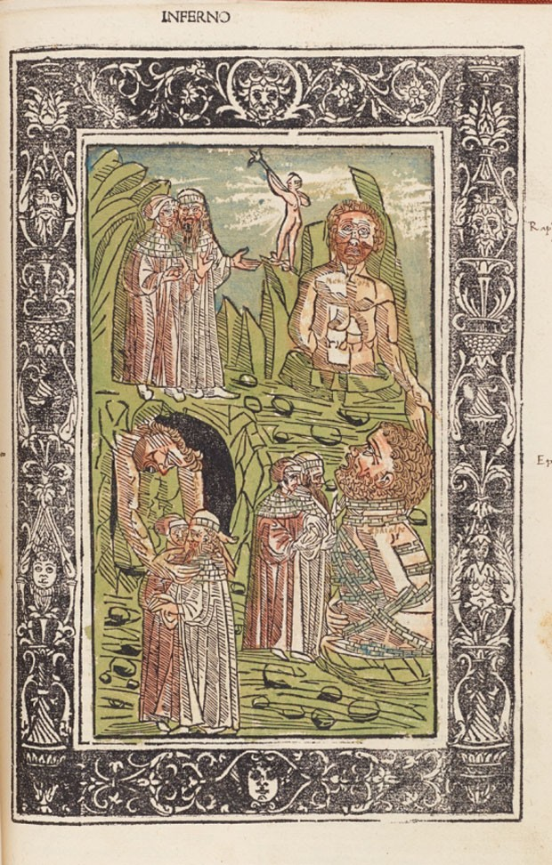 Arquivo digital reúne ilustrações históricas da Divina Comédia (Foto: Reprodução)