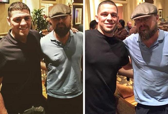 BLOG: Lutadores do UFC, Nick e Nate Diaz postam foto ao lado de Leonardo DiCaprio