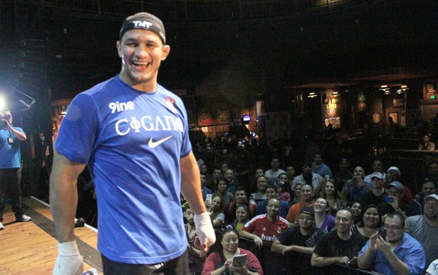 Cigano treino UFC (Foto: Evelyn Rodrigues)