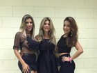 Ana Paula Minerato curte show do namorado, Thiago Servo