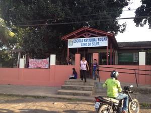 Escola Edgar Lino, localizada no bairro Laguinho, em Macapá (Foto: Graziela Miranda/ G1)