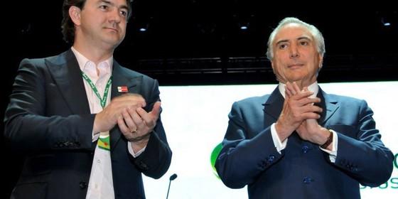 Joesley Batista e Michel Temer (Foto: João Quesada)