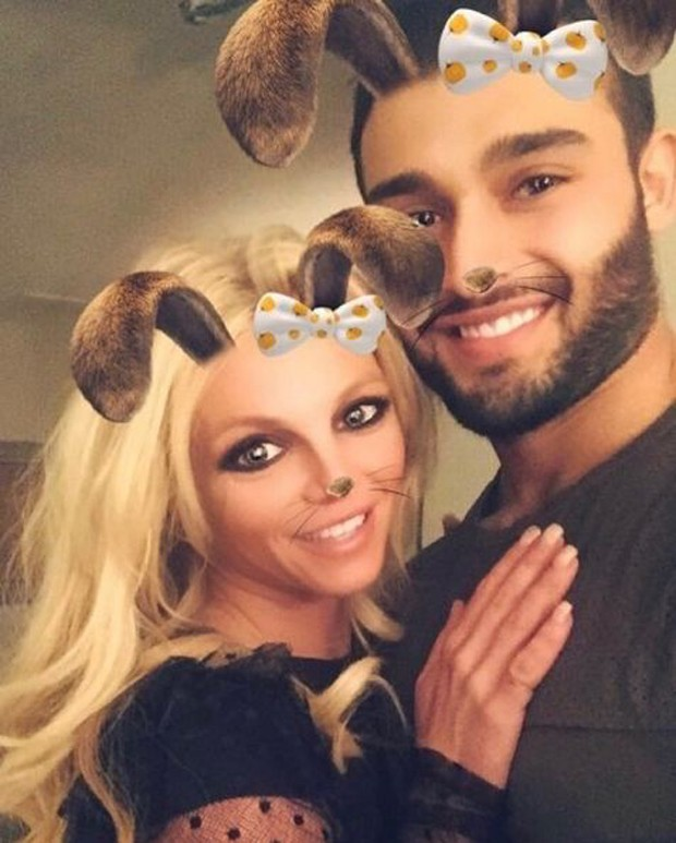 Britney Spears e o namorado, Sam Asghari (Foto: Reprodução/Instagram)