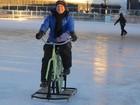 Veja bicicleta de patinar no gelo, 'sutiã do amor' e mais invenções curiosas
