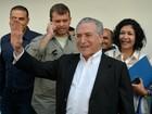 'Agora é o tempo do PMDB', diz Michel Temer em visita ao Acre