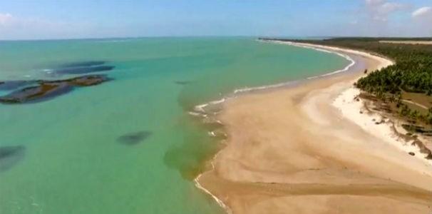 Belezas naturais da Lagoa do Pau em Coruripe  (Foto: Reprodução/ TV Globo)